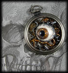 Eye am Watching you... Pocket Watch Necklace