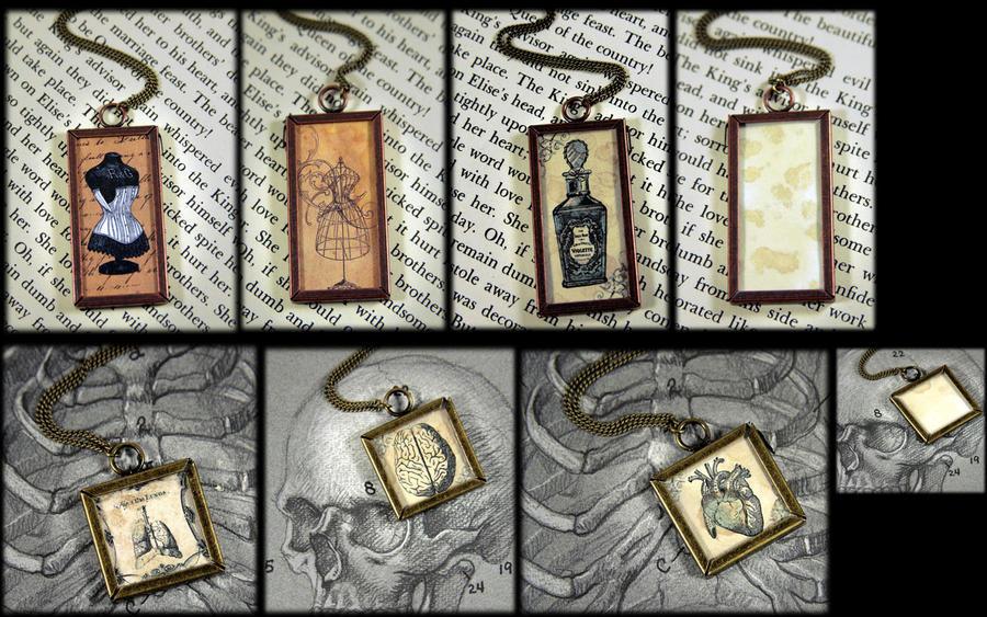 Vintage Image Necklaces by NeverlandJewelry