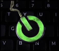 Power Button Necklace 2 by NeverlandJewelry