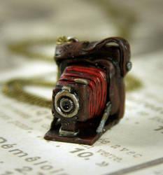 Antique Pocket Camera Necklace by NeverlandJewelry