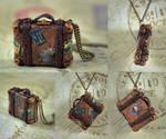 World Traveler Antique Suitcase Necklace