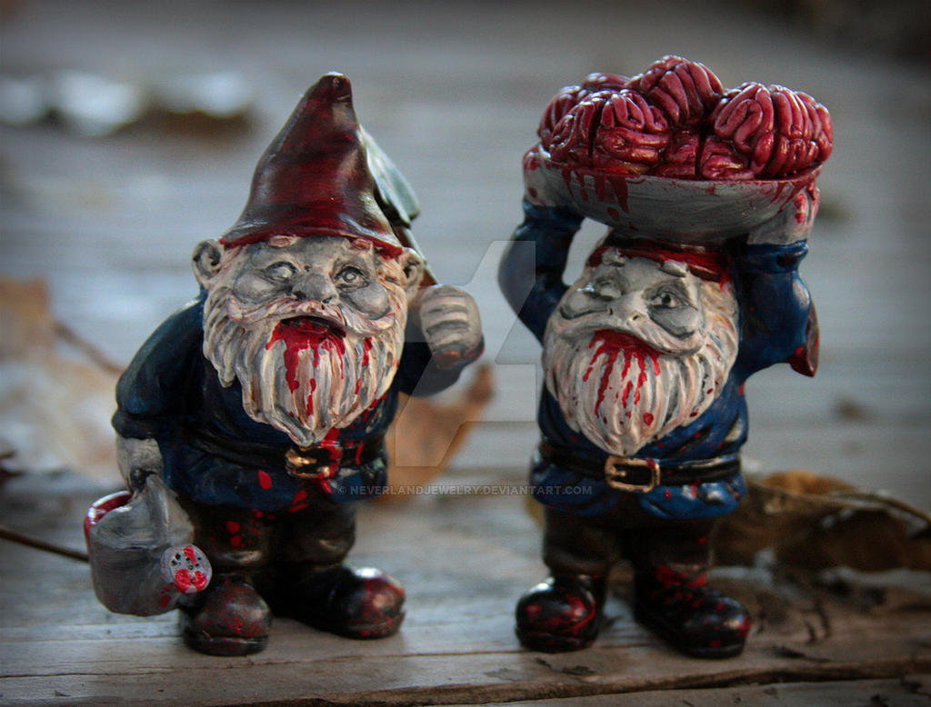 Zombie Gnomes by NeverlandJewelry