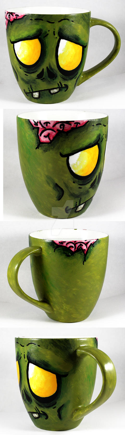 Handpainted Zombie Cup by NeverlandJewelry