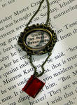Quoth the Raven Nevermore Book Neclace