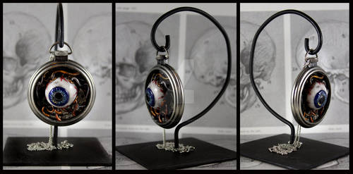 Eye am Watching you Pocket Watch with Stand
