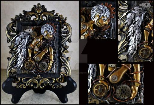 Clockwork Sliver Wing Angel Sculpture.... You can