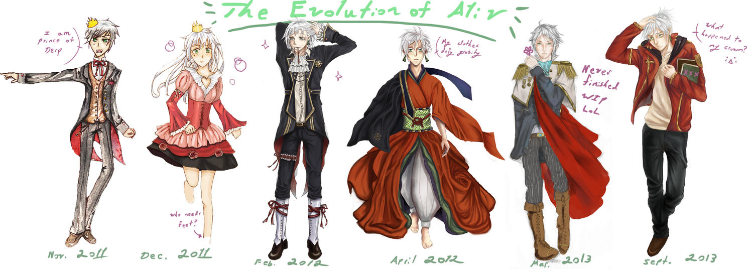 Evolution of Aliv by Mamiru