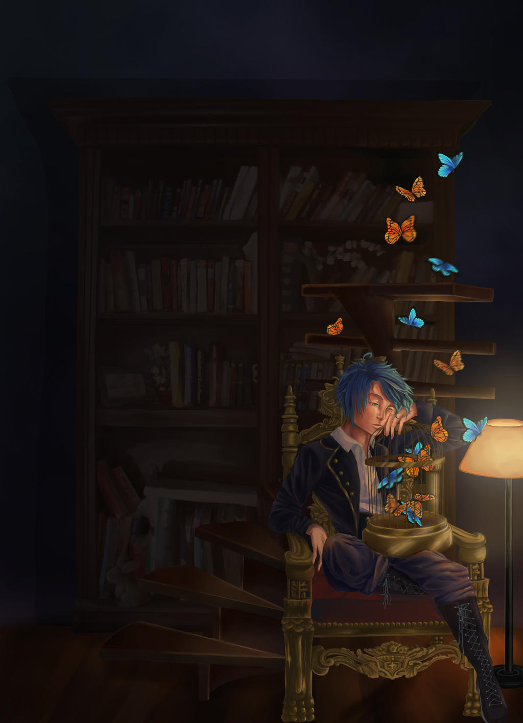 KH Come to the Library by Mamiru