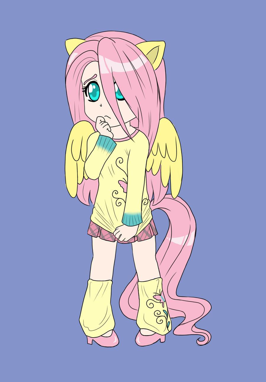 Chibi Fluttershy by ApocalypsePuppy