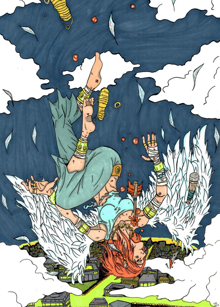 Falling angel by sonkkuli