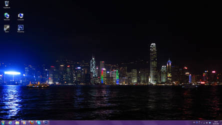 Hong Kong Skyline Desktop by Juka-Sama