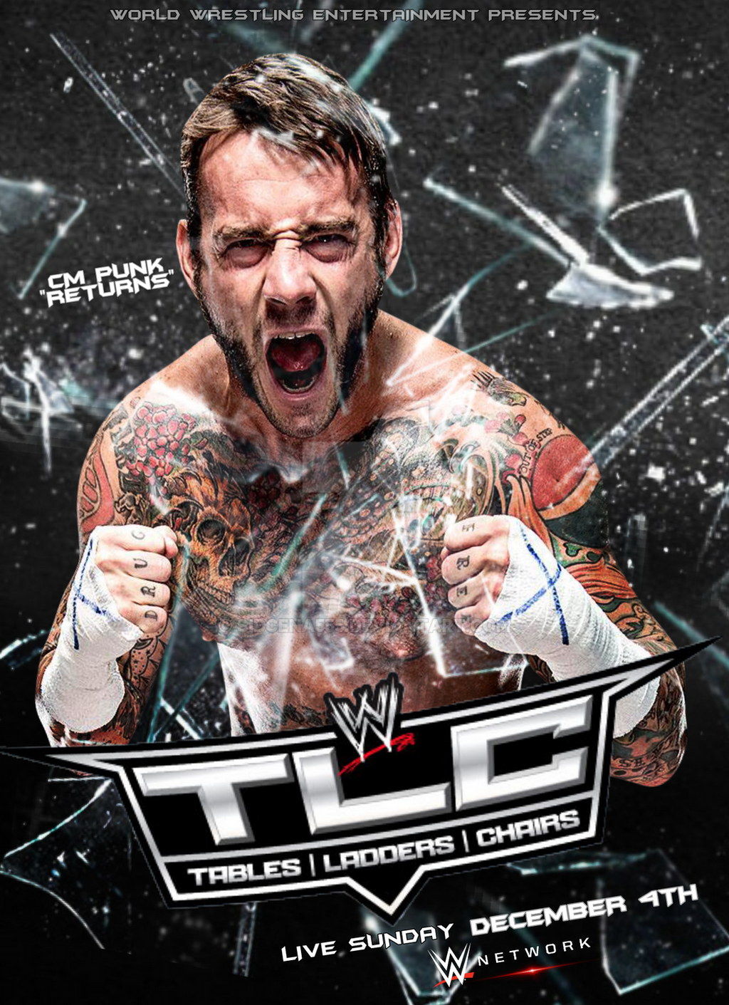 Wwe tables ladders and chairs 2013 poster - Chirantha 5 5 Wwe Tlc 2016 Poster By Sidcena555