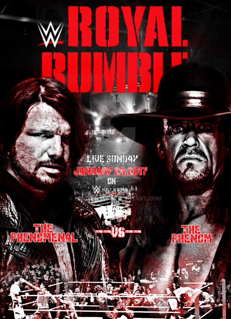 WWE Royal Rumble 2017 Poster by SidCena555