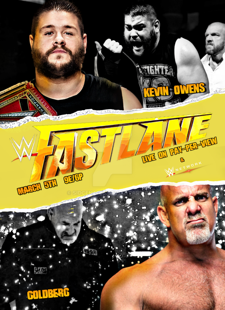 WWE Fastlane Poster 2017 by SidCena555