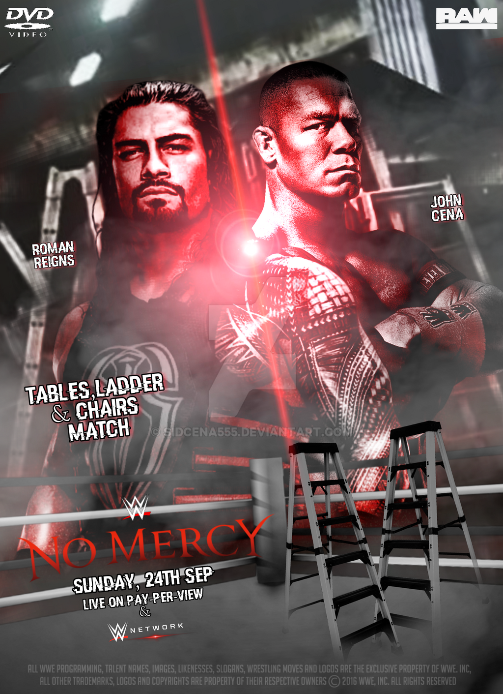 Wwe tables ladders and chairs 2013 poster - Shadykt26 7 7 Wwe No Mercy Poster 2017 By Sidcena555