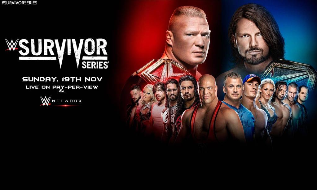 WWE Survivor Series 2017 Wallpaper by SidCena555