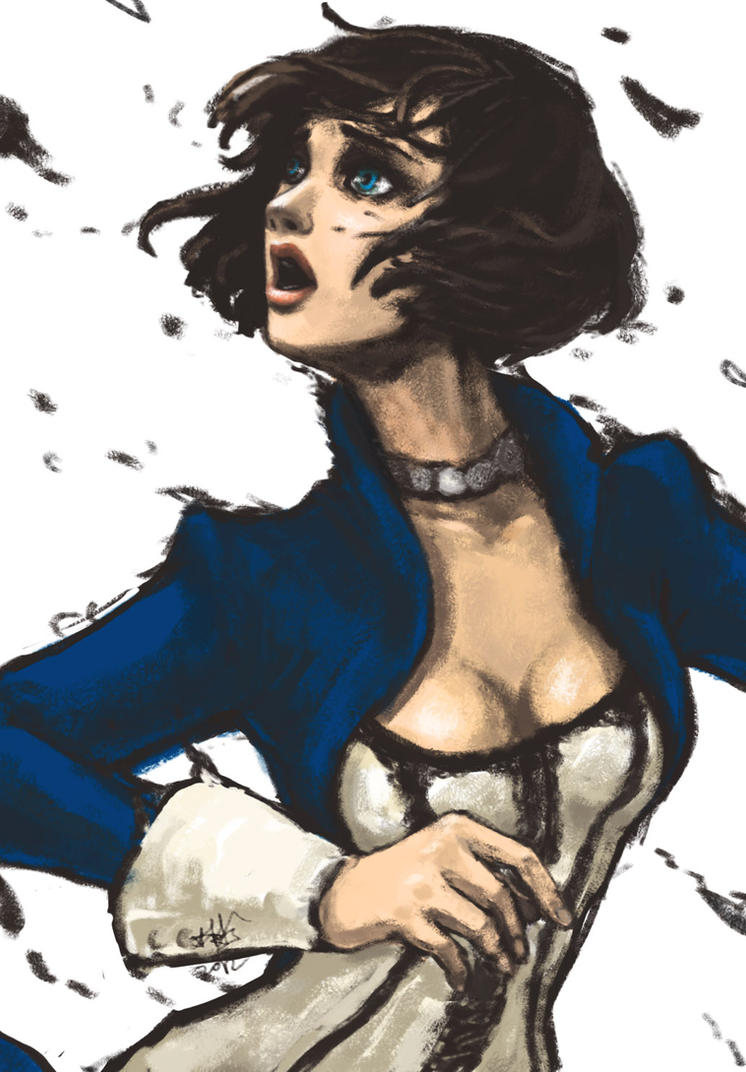 Elizabeth doodle by v-vn