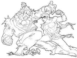 Akuma vs Ryu
