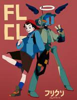 FLCL by Blue-Space-Muffin