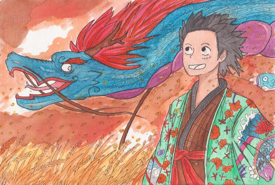 Luffy Dragon Festival by rayshawn8642