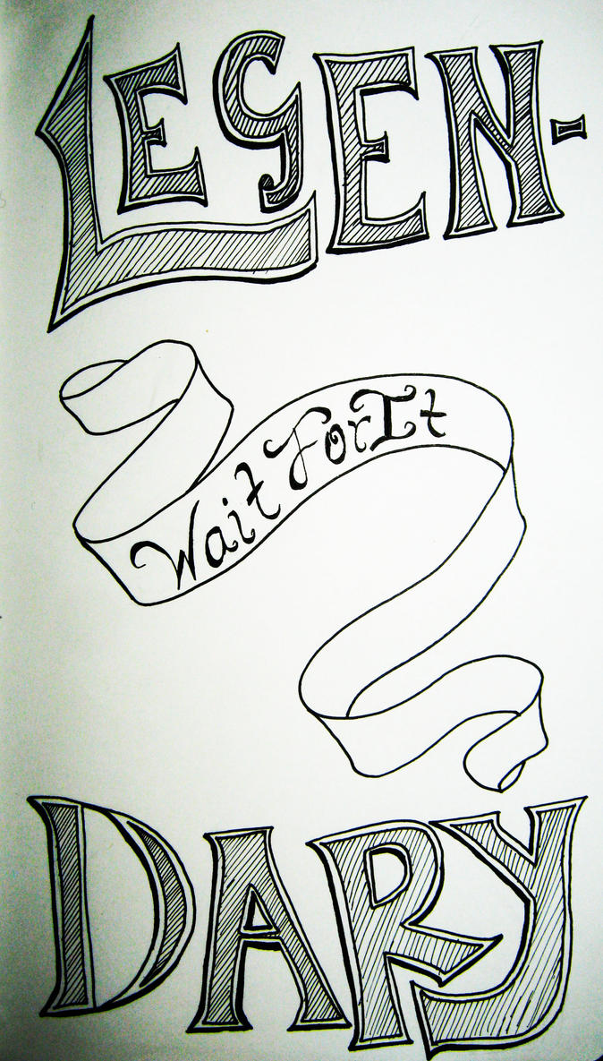 Inktober #3 Legen- Wait For It- Dary by RinaShadowPrincess
