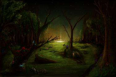 Haunted Swamp by OneSmartChicken