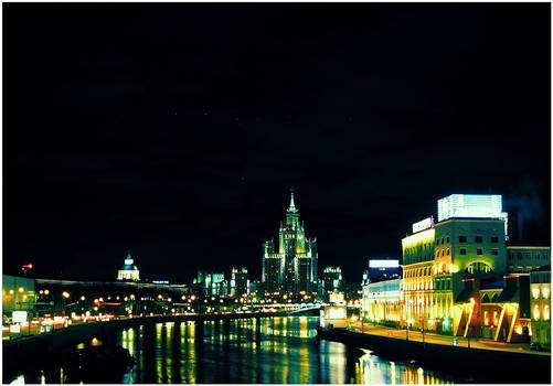 Moscow night in color