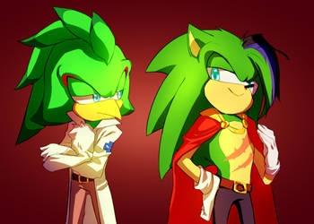 Heh... | Jet and Scourge| AU version by Scourge157
