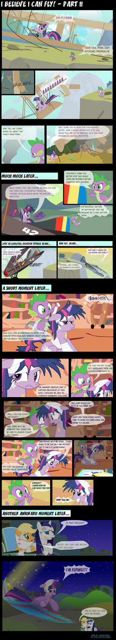 MLP: I Believe I Can Fly Part 2 by Yudhaikeledai