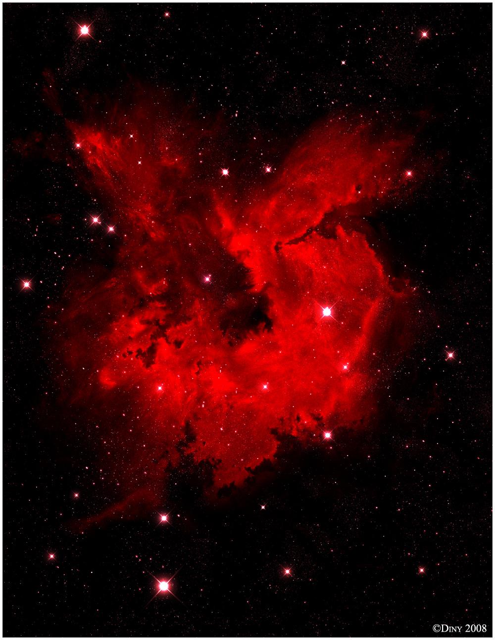 space nebula red - photo #25