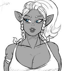 Elf sketch by JWink88