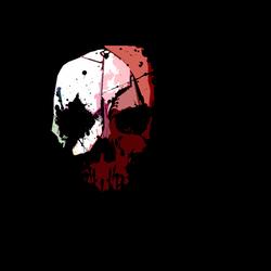 Skull Waterpaint Design