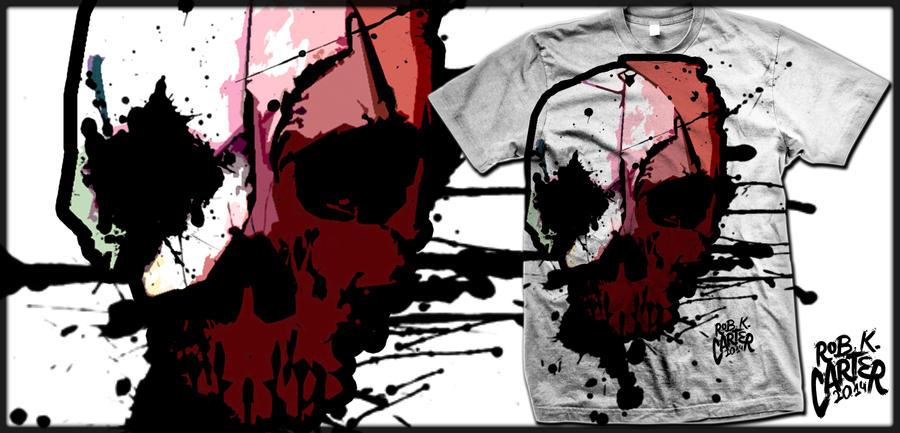 Skull Waterpaint Design Shirt