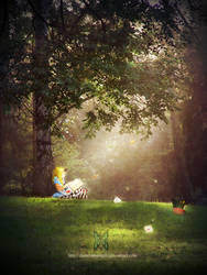 A Reading Wonderland by DusterAmaranth
