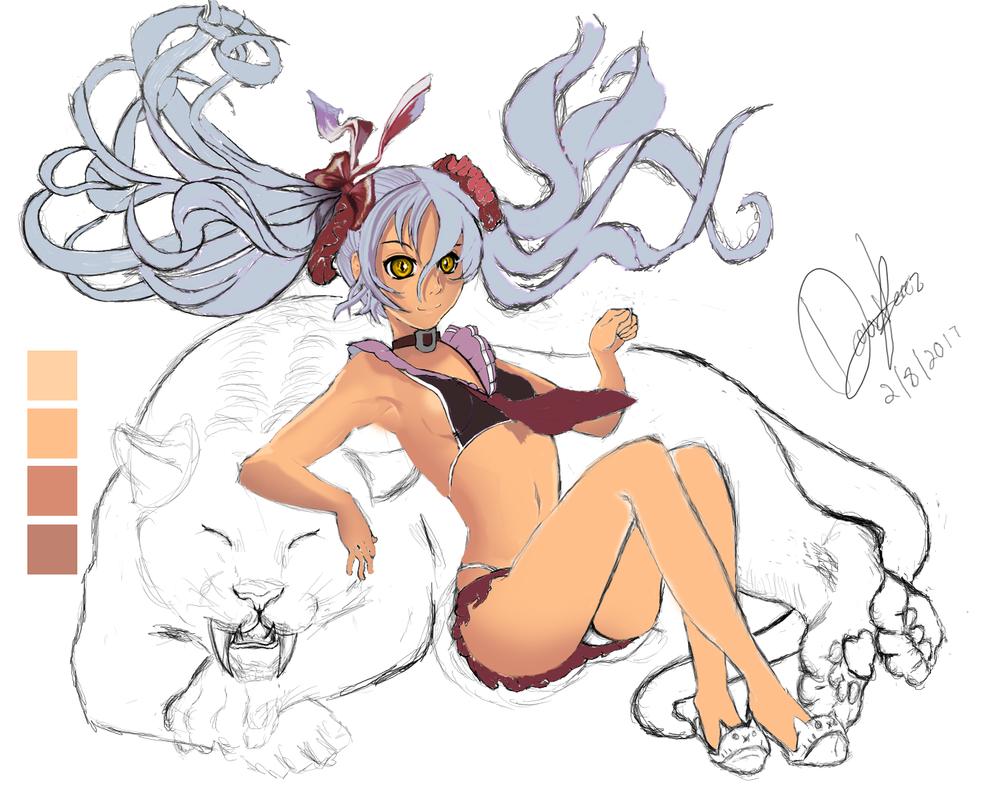 Tiger Girl Progression by DCPerez