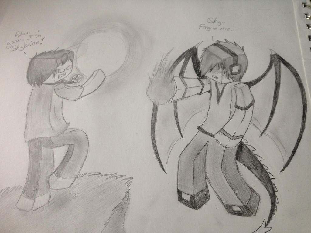 Enderlox vs Skybrine by XxWolfArtxX on DeviantArt