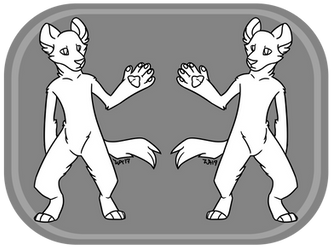 F2U Anthro Hyena Template | PSD Download | by ThatSpiderCat