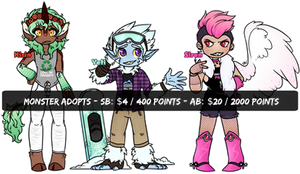 Monster Kids [Auction Adopts] CLOSED by ThatSpiderCat