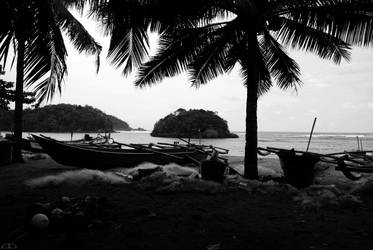 Beach Silhouette by Hydrowaseshix