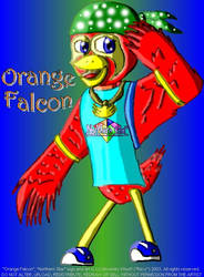 Orange Falcon doodle