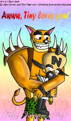 CC Valentine entry - Tiger Hug by freqrexy