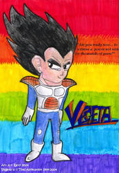 DBZ art - Vegeta by freqrexy
