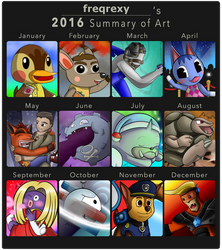 freqrexy's 2016 Art Summary by freqrexy