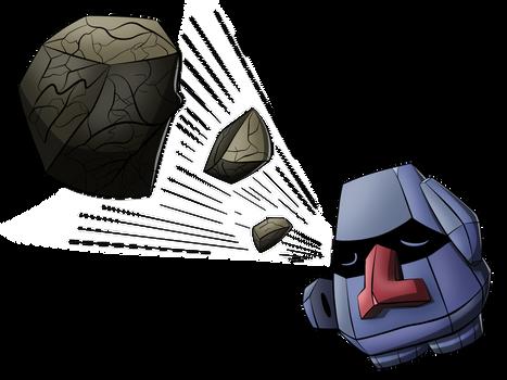 Nosepass used Rock Blast!