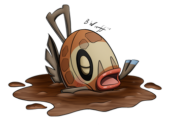 Feebas used Mud Sport! by freqrexy