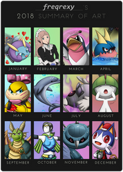freqrexy's 2018 Art Summary by freqrexy