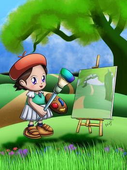Adeleine's Painting Practice