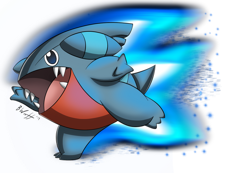 Gible used Dragon Rush!