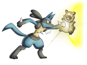 Lucario used Force Palm!