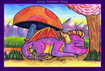 Spyro+Sparx - Lazy Summer Days by freqrexy